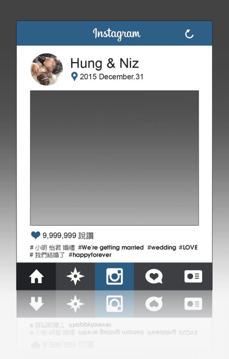 客制化婚礼道具instagram拍照框,拍照道具
